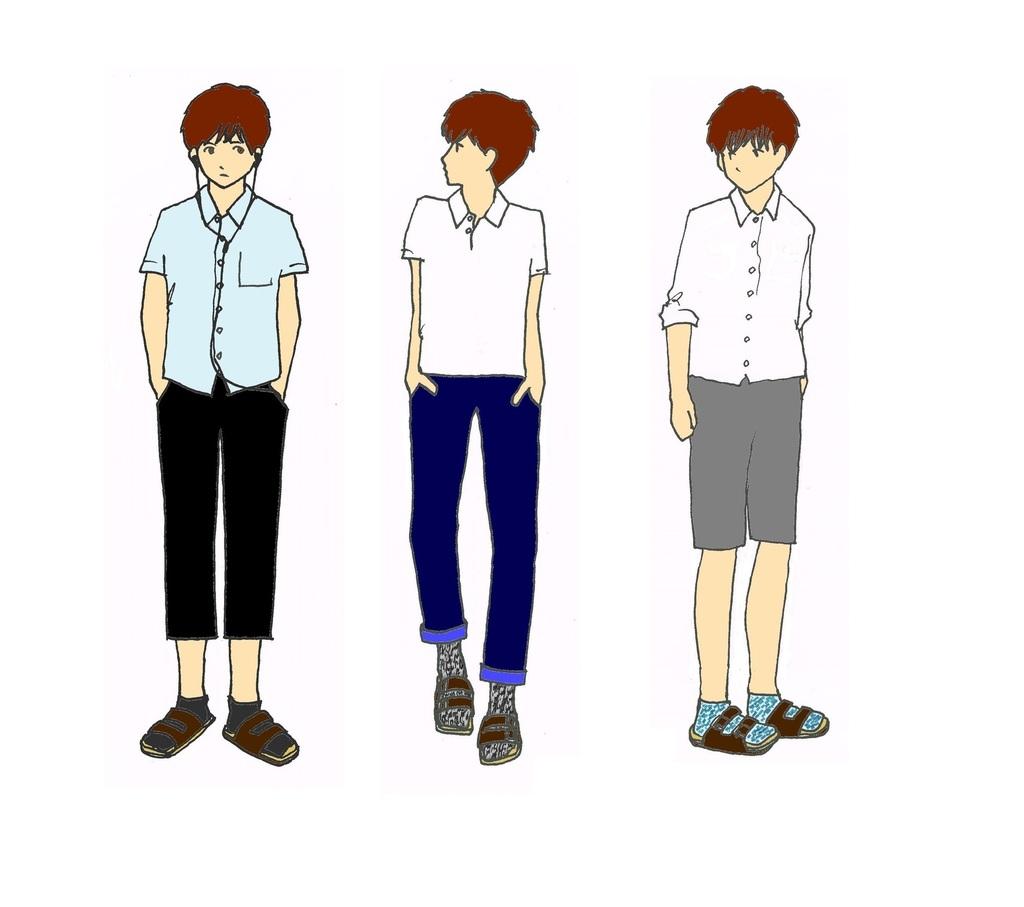 2015 無難なサンダル×靴下.jpg